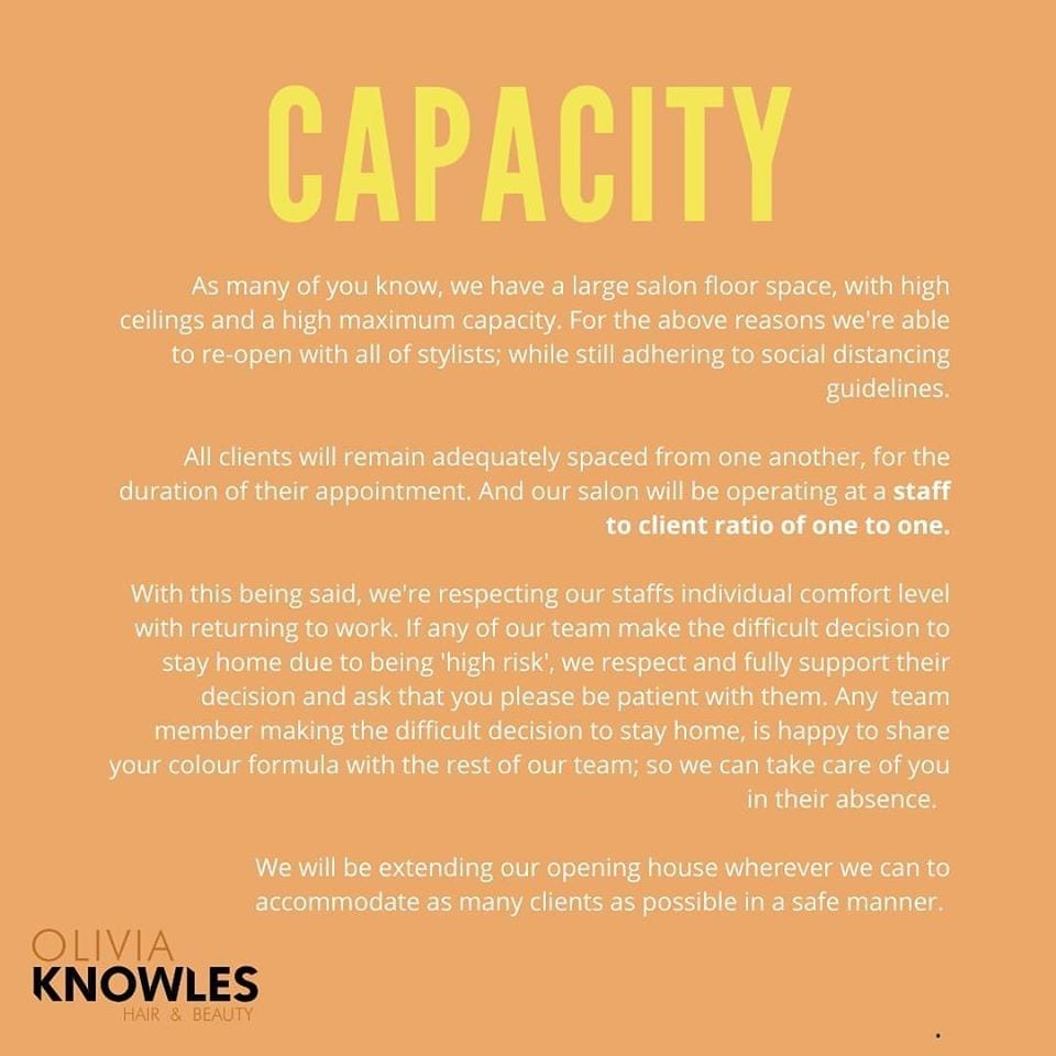 Our capacity
